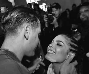 black and white, halsey, and love image