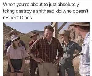 destroy, dino, and funny image
