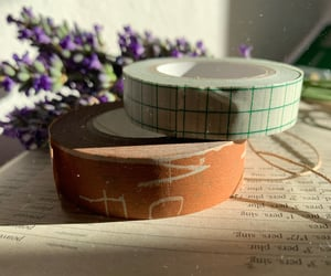 journal, stationery, and washi tape image