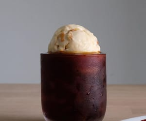 apricot, float, and ice cream image