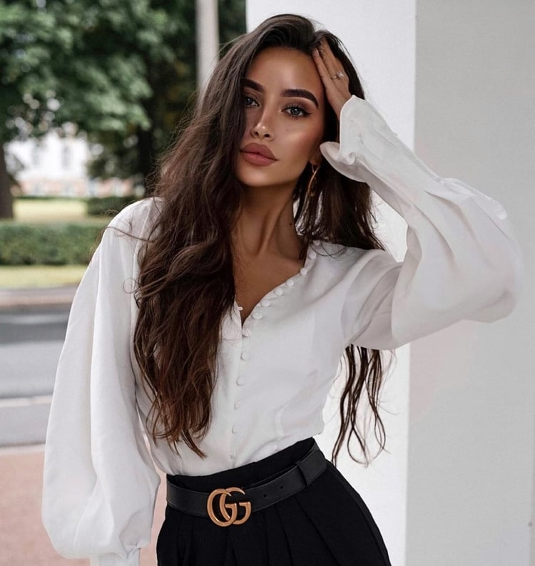 blouse, shorts, and style image