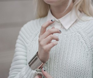 fashion, white, and bracelet image