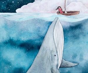 art, boat, and drawing image