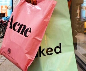 acne, pink, and shopping image