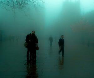 grunge, couple, and rain image