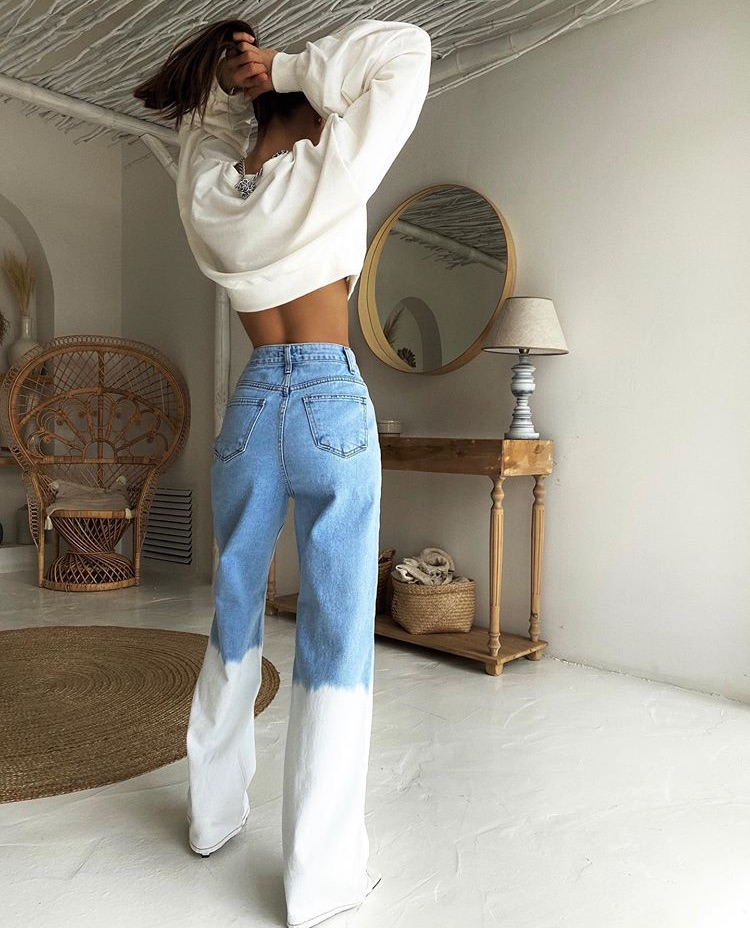 home design, tie dye jeans, and trendy style image