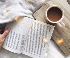 book, coffee, and comfy image