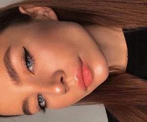 beauty, brunette, and eyes image