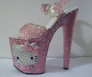 hello kitty, heels, and high heels image