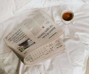 bed, city, and coffee image