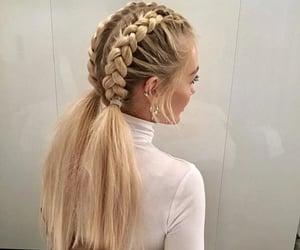 blonde, braids, and earrings image