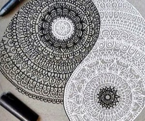 art, detailed, and yingyang image