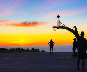 adventures, sunset, and Basketball image