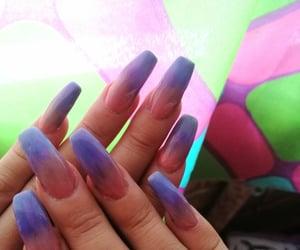 colors, nail art, and acrylic nails image
