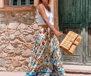printed maxi skirt image