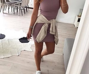 beige, fit, and outfit image