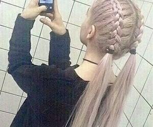 choker, black, and braids image