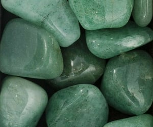 green, aesthetic, and crystal image