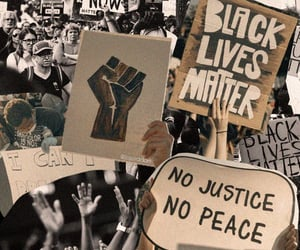 words and black lives matter image