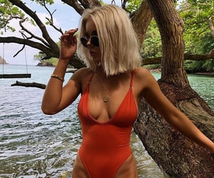 blonde, clothes, and swimsuit image