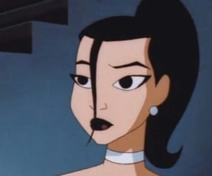 cartoon, black hair, and profile picture image