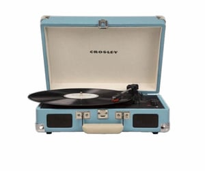 blue, png, and record player image