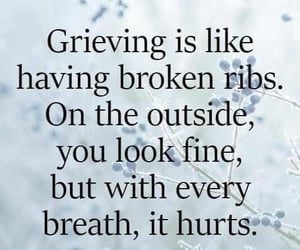 grief, grieving, and hurt image