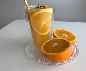 aesthetic, drink, and orange image