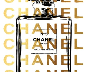 golden, Logo, and chanel image