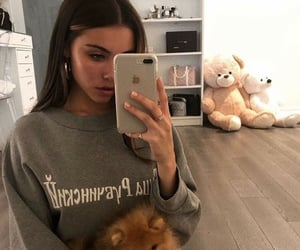 madison beer, dog, and beauty image