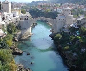 beautiful, mostar, and bridge image