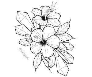 art, artist, and flower tattoo image