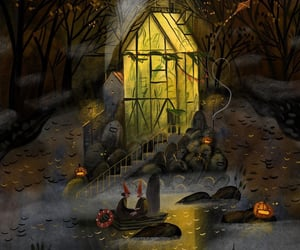 autumn, drawing, and Halloween image