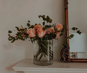 flowers, rose, and mirror image