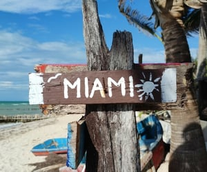 beach, Miami, and ocean image