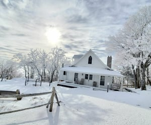 Snow at Land of Oz Theme Park in North Carolina. The home is reconstructed to match the Kansas home of the character Dorothy Gale in the film The Wizard of Oz @landofoz on Instagram