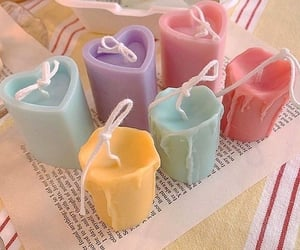 pastel, candles, and soft image