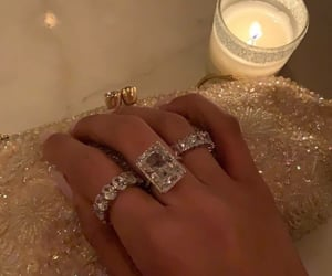rings, diamond, and jewelry image