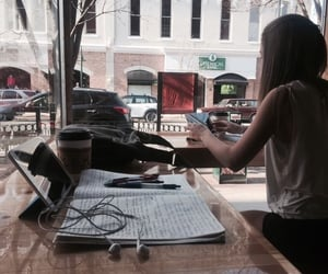 coffee shop, college, and studying image