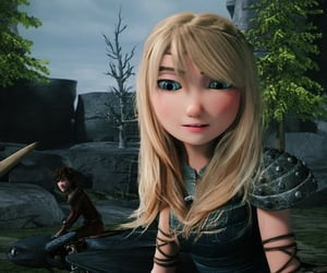 astrid, movie, and hiccup image