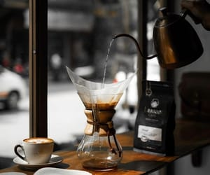 cafe, chemex, and coffee image