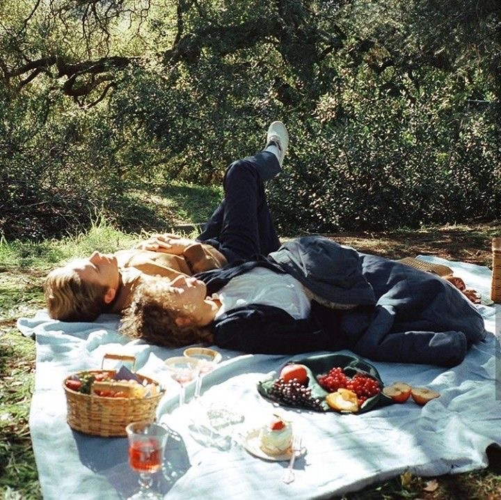 couple, picnic, and summer image