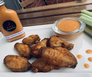 brussels, chickenwings, and hot sauce image