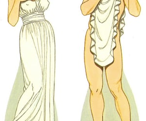 ancient greece, paper dolls, and illustration. fashion image