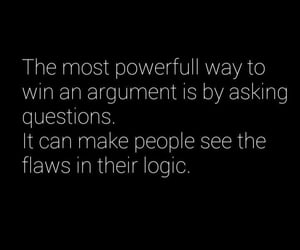 argument, logic, and question image