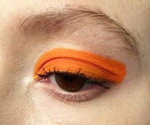 orange, makeup, and aesthetic image