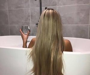 bath, bathrub, and girl image