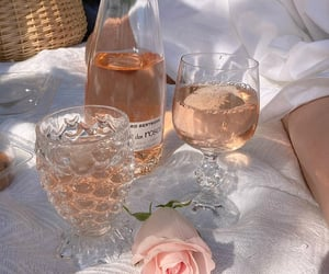picnic, rose, and wine image