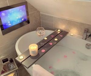 luxury, bath, and candle image