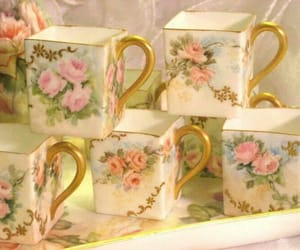 vintage, floral, and shabby chic image